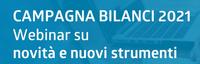 Campagna bilanci 2021 - webinar  gratuito per predisposizione istanze