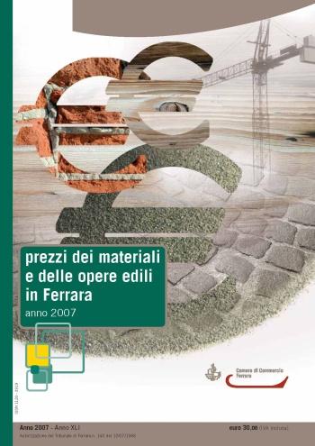 Ecco i prezzi dei materiali e delle opere edili in Ferrara
